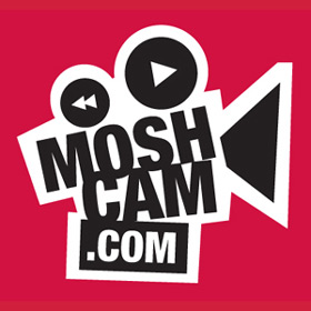 "Moshcam Logo. ""The gig is up!"""