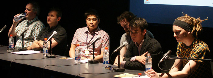 Online Publishing panel, Big Sound 2009. Deep in thought.