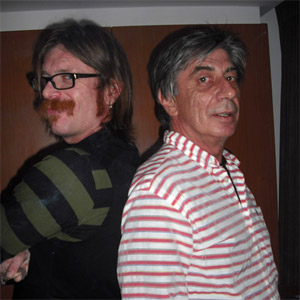 Ian James [right] with Jesse Hughes of Eagles Of Death Metal
