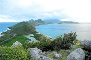 St Kitts, in the West Indies. Not pictured: Neil Strauss, writing.