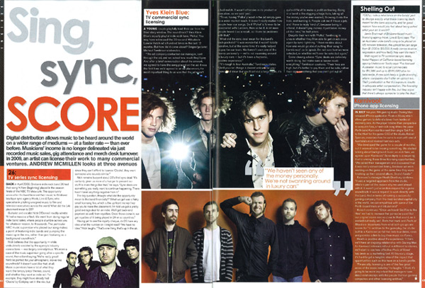November 2009 jmag article: Insider Sing, Sync, Score