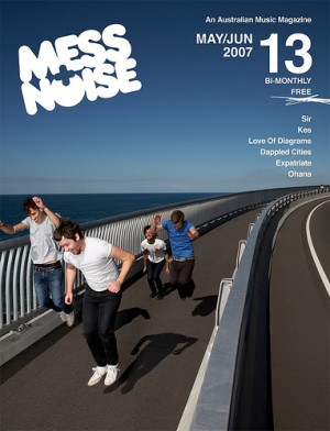 Mess+Noise magazine. I believe this is 'Sir' on the cover.