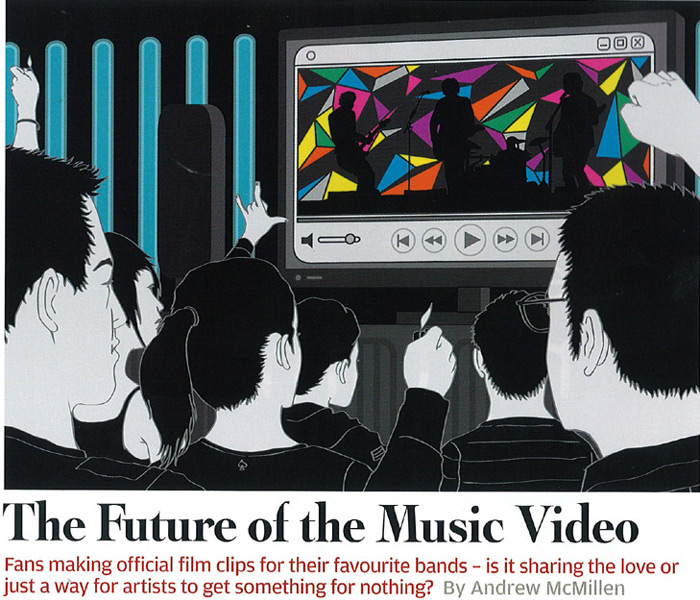 'The Future of the Music Video' article by Andrew McMillen for Rolling Stone, as illustrated by Simon Noynay