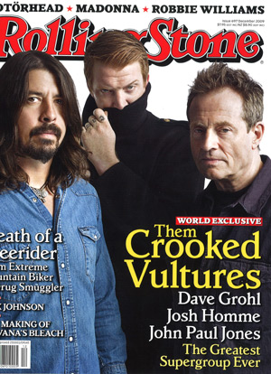 Rolling Stone December 2009 cover: Them Crooked Vultures