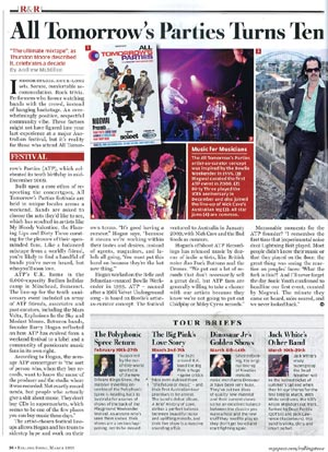 All Tomorrow's Parties story in Rolling Stone, February 2009 by Andrew McMillen