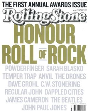 Rolling Stone Australia cover, March 2010