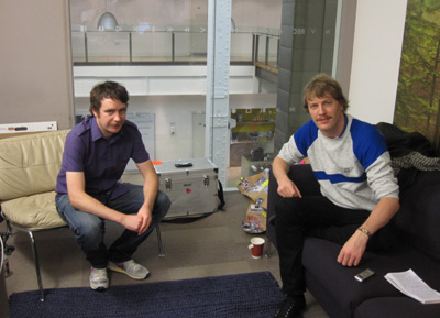 Phil Clandillon and Steve Milbourne at the Sony Music London office