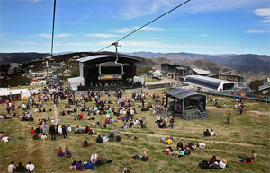 Main stage at ATP Mt Buller, January 2009