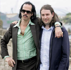 Nick Cave and ATP founder Barry Hogan