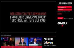 Guvera homepage
