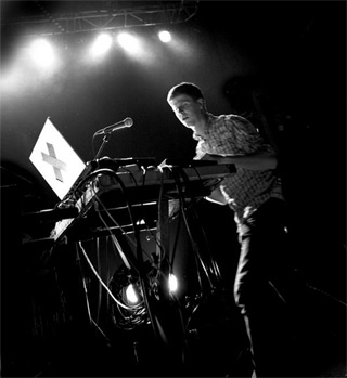 Dave Miller of the Sydney, Australia-based electronic rock group, PVT
