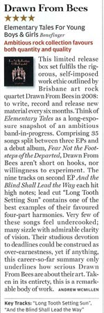 Rolling Stone album review, August 2010: Drawn From Bees