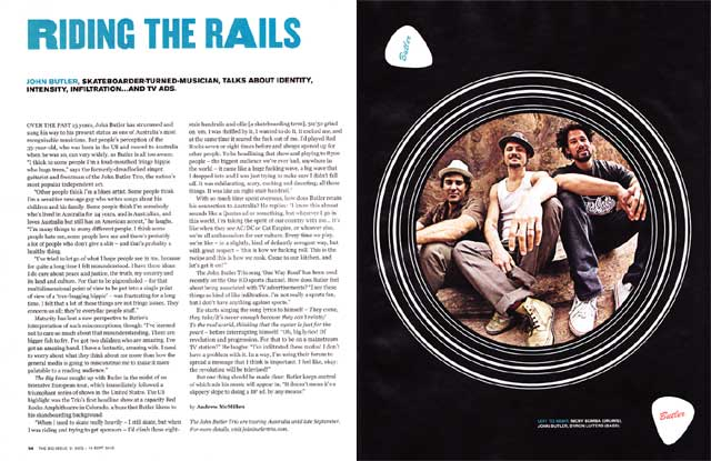 John Butler Trio profile, 'Riding The Rails', by Andrew McMillen in The Big Issue #362