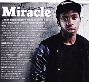Miracle rapper