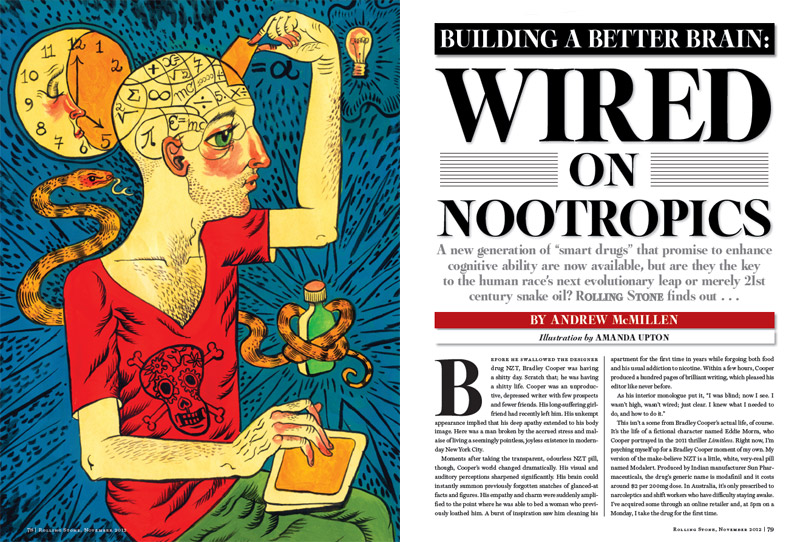 Rolling Stone Story Building A Better Brain Wired On Nootropics