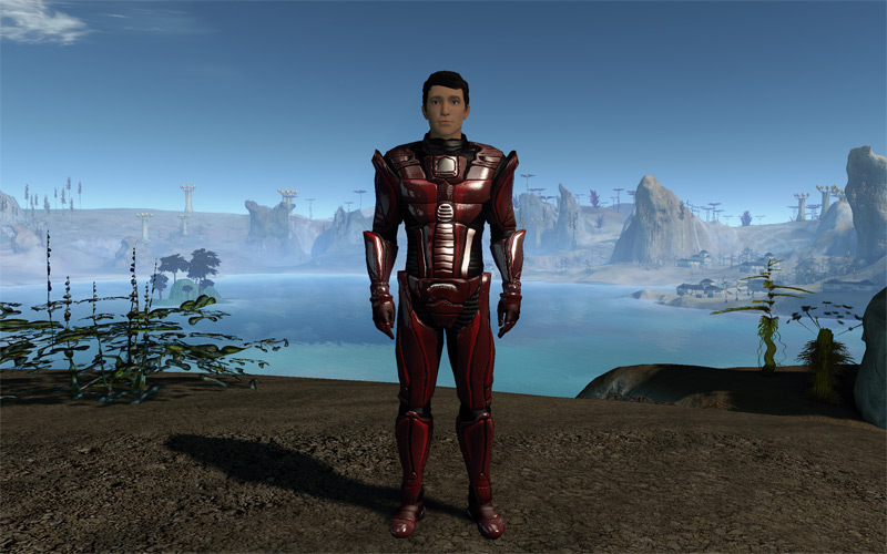 "Zachurn ""Deathifier"" Emegen in Entropia Universe, pictured as part of 'The Man Who Virtually Has It All' story for CNET Australia, March 2013"