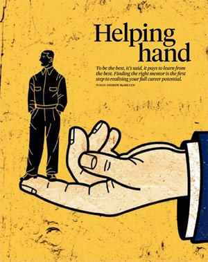 Voyeur magazine story: 'Helping Hand: Modern mentorships' by Andrew McMillen, February 2013