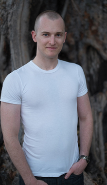 Photograph of Australian freelance journalist Andrew McMillen, taken November 2013 by David Ball