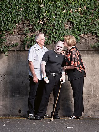 The Weekend Australian Magazine story: 'The Cottonwool Kid: Dean Clifford' by Andrew McMillen, November 2013. Dean is pictured with parents Peter and Jenny in this photo by Eddie Safarik
