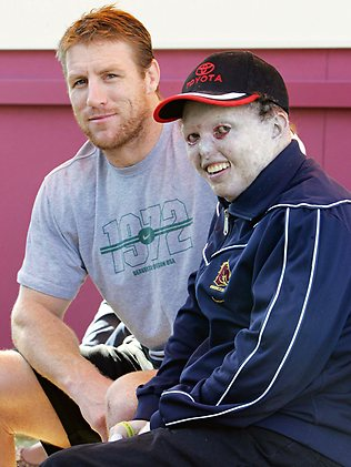 The Weekend Australian Magazine story: 'The Cottonwool Kid: Dean Clifford' by Andrew McMillen, November 2013. Dean is pictured with Brad Thorn in this photo by Bruce Long