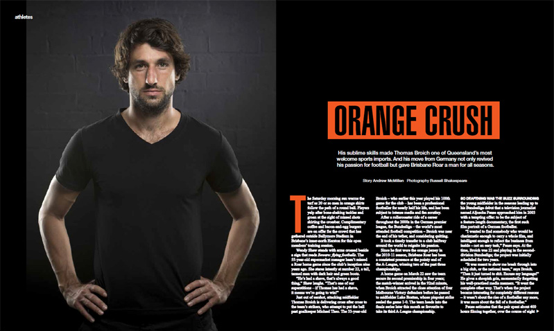 Qweekend story: 'Orange Crush: Thomas Broich' by Andrew McMillen, April 2014