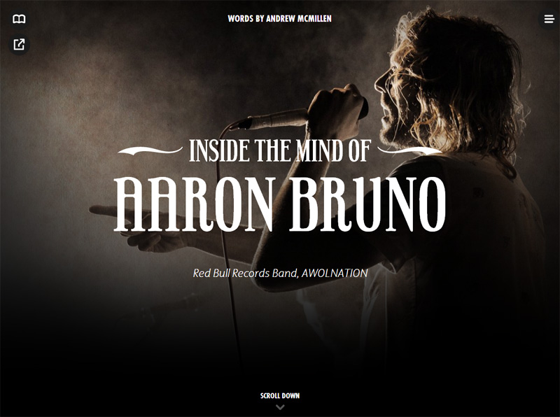 'Inside The Mind of Aaron Bruno' AWOLNATION story by Andrew McMillen for Red Bull, May 2014