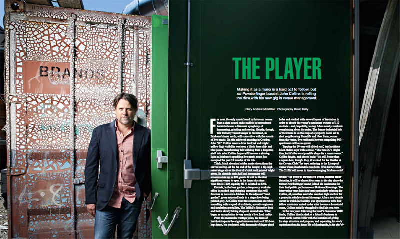 Qweekend story: 'The Player: John Collins and The Triffid' by Andrew McMillen, November 2014. Photograph by David Kelly
