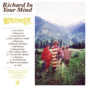Richard In Your Mind – 'Ponderosa' album cover reviewed in The Australian, September 2014