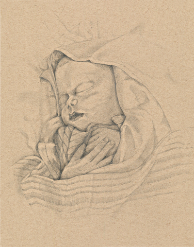 Baxter Ainsworth, as sketched by his father, Glenn, in 2014