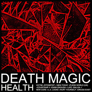 HEALTH - 'DEATH MAGIC' album cover, reviewed by Andrew McMillen in The Weekend Australian, 2015
