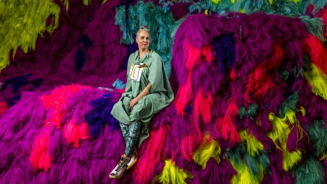 The Weekend Australian Review story: 'Dazzling Dress-Up: Icelandic artist Shoplifter at GOMA Brisbane' by Andrew McMillen, November 2016. Photo by Glenn Hunt