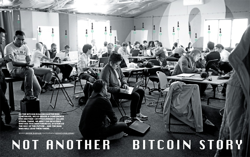 GQ Australia story: 'Not Another Bitcoin Story: Steemit and Steemfest' by Andrew McMillen, March 2018. Photograph by Siavach Agha Babaei